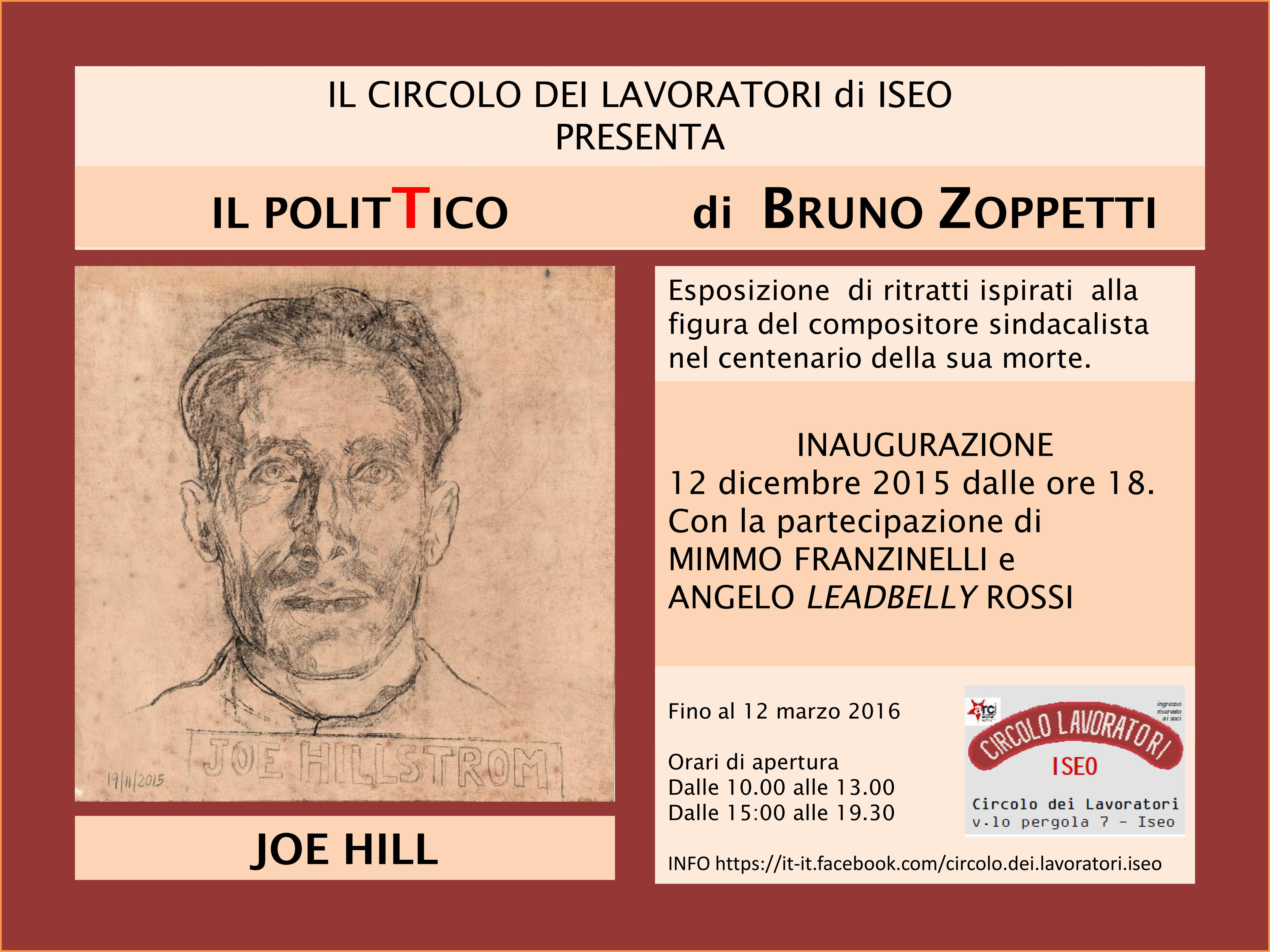 Mostra Joe Hill 2015 di Bruno Zoppetti
